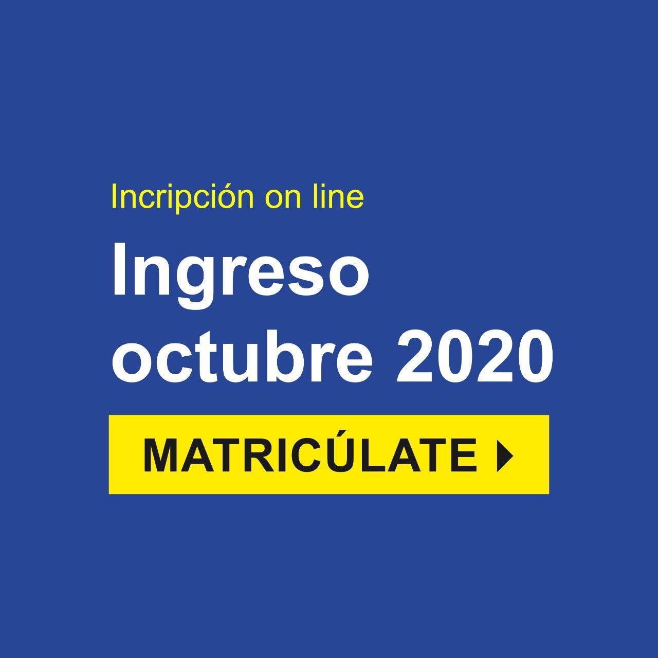 Ingreso Octubre 2020