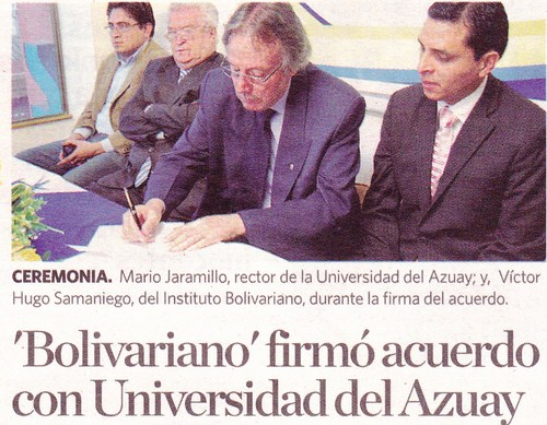 "Convenio Instituto ""Bolivariano"" – Universidad del Azuay"