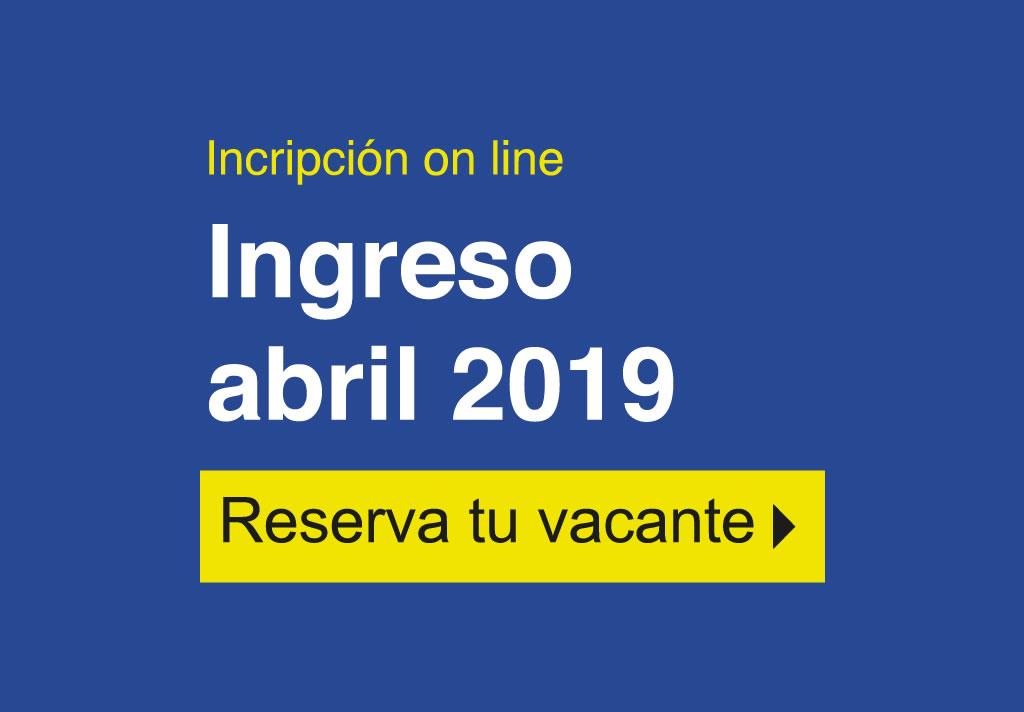 Ingreso Abril 2019