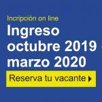Ingreso octubre 2019 – marzo 2020