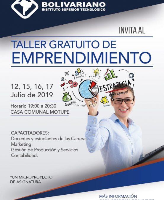 ISTB promueve taller sobre emprendimiento