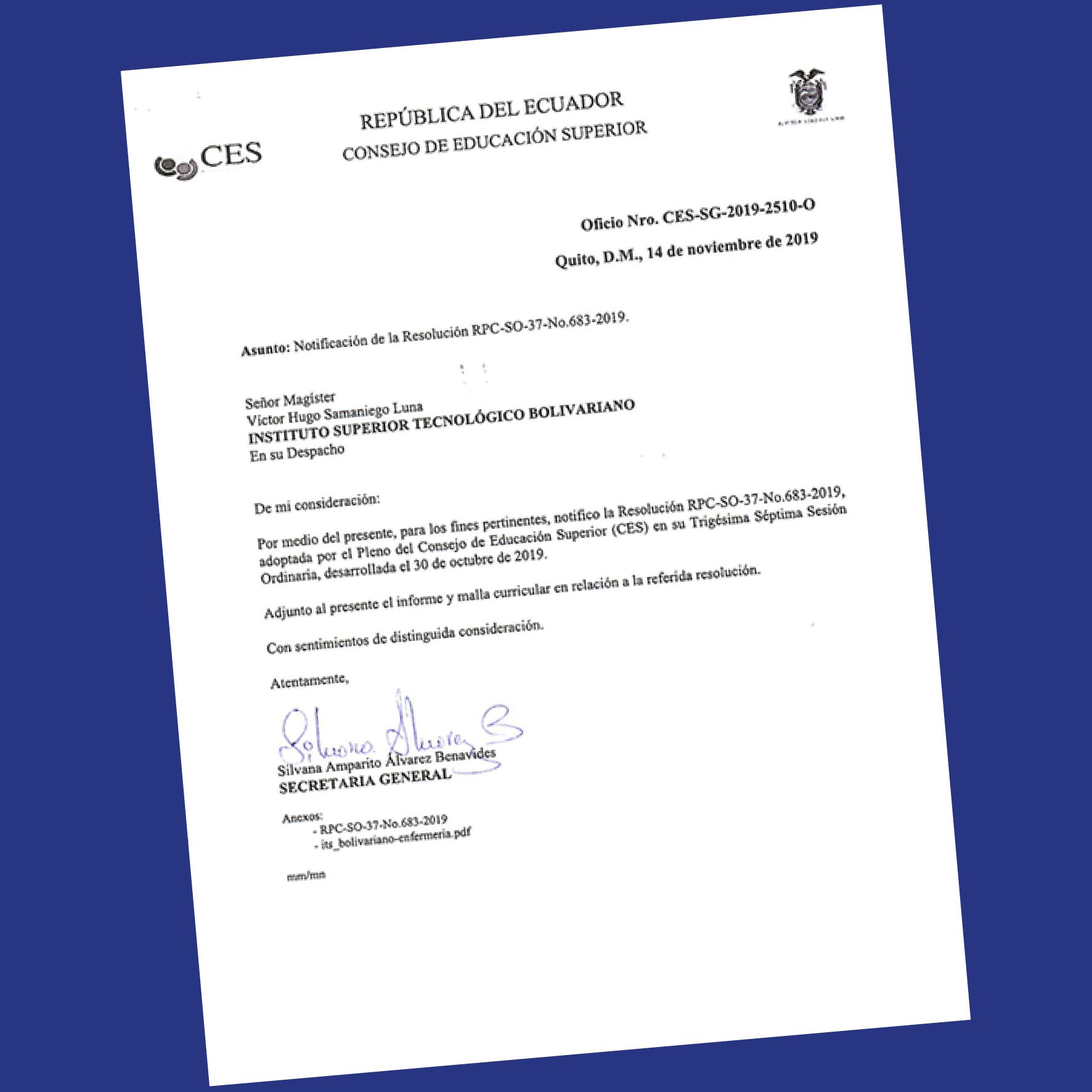 Consejo de Educación Superior CES, autorizó Carrera de enfermería
