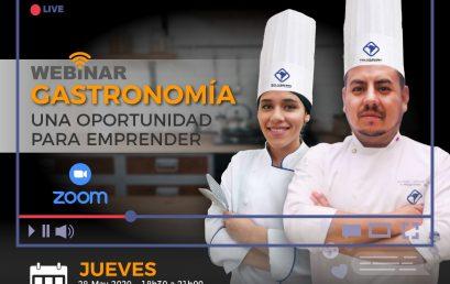 Webinar Gastronomía, una oportunidad para emprender