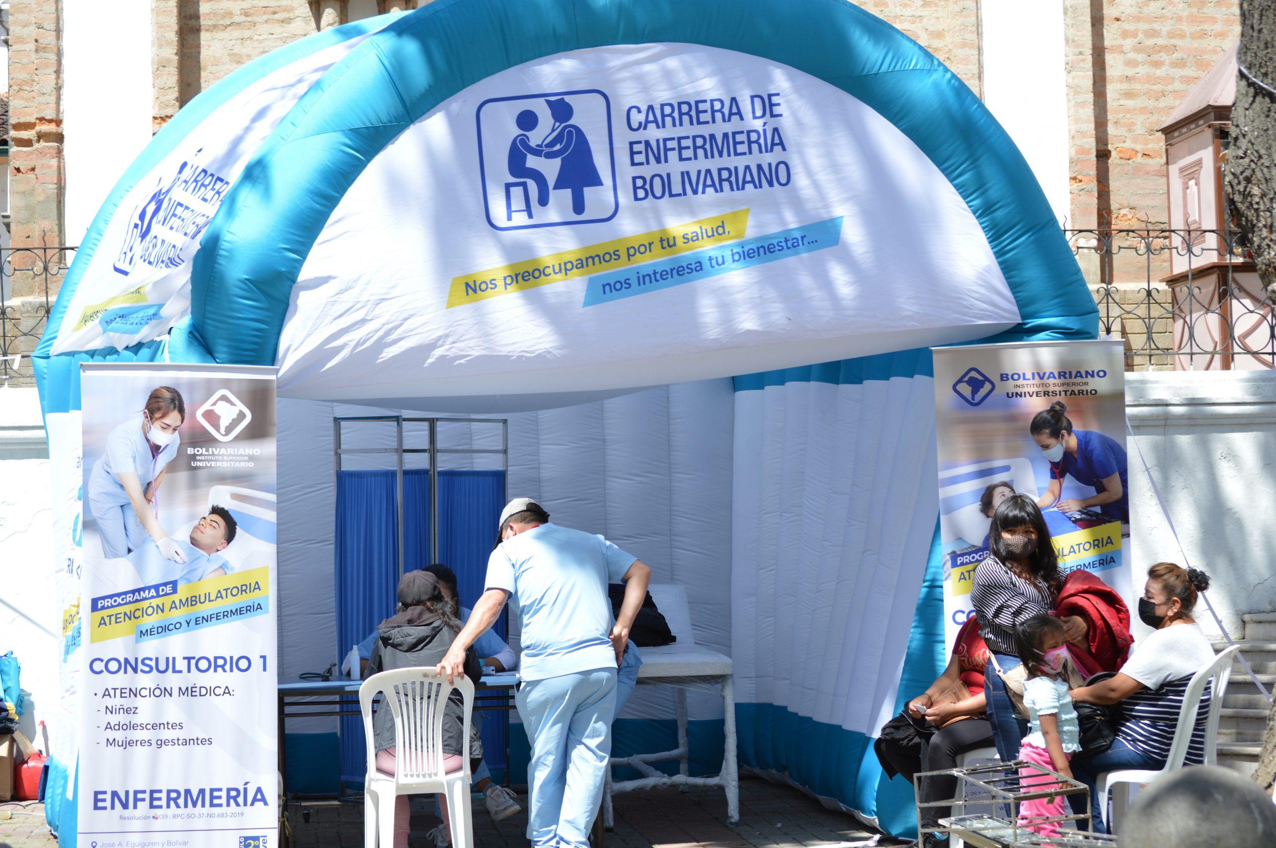 El UNIVERSITARIO BOLIVARIANO brinda atención gratuita en Medicina y Enfermería