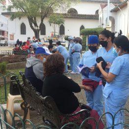La Plaza de Santo Domingo es una de las estaciones del programa ambulatorio médico y de enfermería.